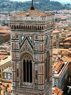 The campanile (bell tower) next to the Duomo in Florence, Italy. a long & narrow climb up but totally worth the view at the top Oh The Places You'll Go, Cool Places To Visit, Places To Travel, Best Of Italy, Florence Tuscany, Italy Holidays, Visit Italy, Italy Travel, Around The Worlds