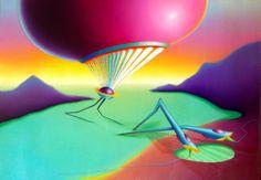 Electric Splashdown, 2013, olio e acrilico su tela, 70x100 cm - Ignazio Mazzeo #art #painting #ignaziomazzeo #colours #nature