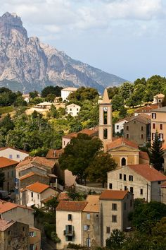 Photo about Village in the mountains of Corsica, France. Image of homes, hill, bell - 7223120 Design Illustrations, Corsica, Art Logo, Grand Canyon, Logo Design, France, Stock Photos, Mountains, Mansions