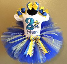 3 Pc Minion Despicable Me Birthday Tutu Set by TeacupsandMudpies1