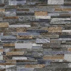 Slate Stone Brick Effect Wallpaper Washable Vinyl - Stone Sand Grey Brick Effect Wallpaper, Look Wallpaper, 3d Wallpaper For Walls, Textured Wallpaper, Textured Walls, Vinyl Wallpaper, Wallpaper Paste, Brick Wallpaper Kitchen, Grey Stone Wallpaper