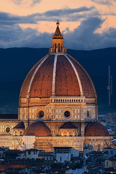 Florence Cathedral Closeup view at sunset in Italy. In this city ever served as the center of Renaissance, it must have something unique which you never see elsewhere. Florence Cathedral (Cathedral of Saint Mary of the Flower, or Duomo di Firenze in Italian) is one of the many architecture master pieces located in the heart of the city. Look at the details and the technical challenge to build such a huge scale basilica (the dome was the largest in the world). The Cathedral itself is an…