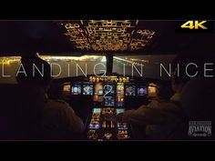 Night Landing Nice | Cockpit View 4K