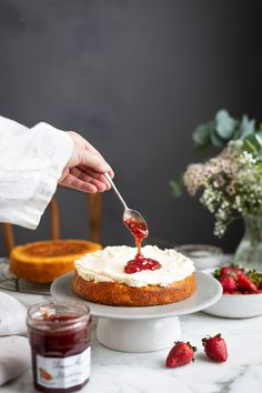 A classic and delicious Victorian sponge cake with strawberry jam & buttercream frosting recipe