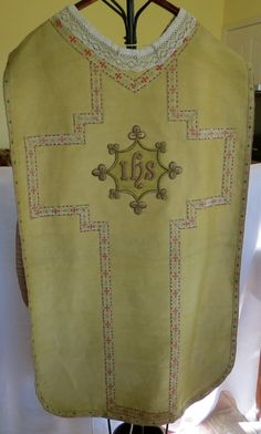 Antique vintage priest chasuble from France with by artandsalvage, $295.00