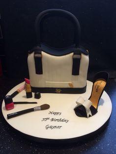 Ted Baker handbag and shoe birthday cake Ted Baker Handbag, Make Up Cake, Handmade Decorations, Celebration Cakes, Cake Pops, Cake Decorating, Special Holidays, Birthday Cakes, Shoe