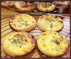 LA TABLE LORRAINE D'AMELIE: Mini quiches au chèvre et thym frais