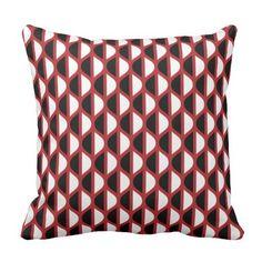 Het geometrische Abstracte Rood van het Patroon Sierkussen