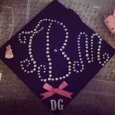 My graduation cap. Delta Gamma Graduation Cap
