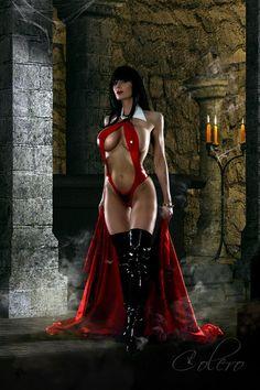 This is an amazing Vampirella cosplay!  (vivolatino.com pinterest)