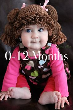 Cabbage Patch Kid Inspired Crochet Wig/Hat 0-12 by TheLilliePad