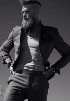 #fashionformen #bearded #mancrush #mensfashion #clothes #style #haircut #cute