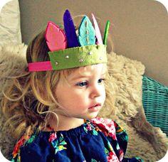 Perry would love this! Feather Headdress- Felt Flower Headband