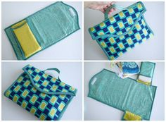 Ba Changing Mat Pattern Two Options So Sew Easy Diaper Changing Pad Pattern Baby Changing Station, Baby Changing Mat, Diaper Changing Pad, Baby Sewing Projects, Sewing For Kids, Diy Bebe, Baby Couture, Creation Couture, Baby Kind