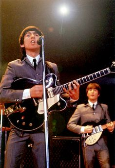 My First True Love: George Harrison. (Second True Love: The Beatles...) Performing in Washington DC February 1964