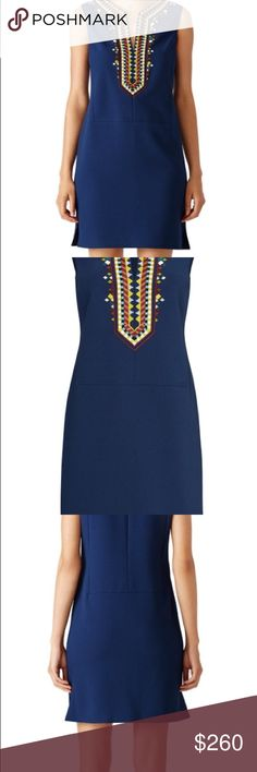 Tory Butch Sophia Dress Beautiful Tory Butch Dress with Embroidery and Beaded absolutely Gorgeous. Tory Burch Dresses