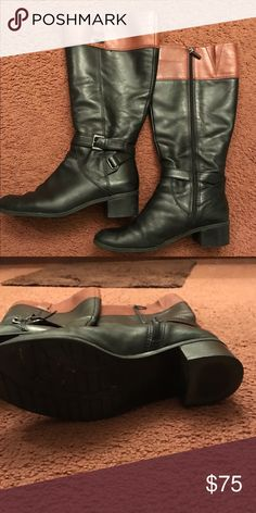Bandolino Tall Boots Black and brown boots. Genuine leather Bandolino Shoes