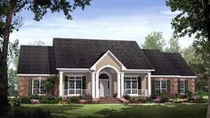 House Plan 59190 | Country European Traditional Plan with 2769 Sq. Ft., 4 Bedrooms, 4 Bathrooms, 2 Car Garage at family home plans