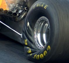 Wrinkle wall tires in action!  Massive torque does that!