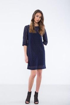 Staple + Cloth Spell Shift in Navy at Florence Boutique, Karori Road, Karori, Wellington New Zealand Cold Shoulder Dress, Feminine, Shirt Dress, Boutique, Navy, Florence, How To Wear, Shirts, Beautiful