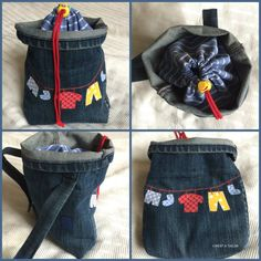 Climbing Chalk Bag, Private Website, Painted Jeans, Denim Bag, Upcycle, Purses, Sewing, Inspiration, Sew Bags