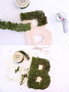 Decorate your front door this fall with our DIY Moss Monogram Wreath. Join Kim Byers at The Celebration Shoppe for more decorating ideas! Summer Crafts, Fall Crafts, Crafts For Kids, Diy Monogram, Monogram Wreath, Moss Letters, Party Props, Party Ideas, 1st Birthday Girls