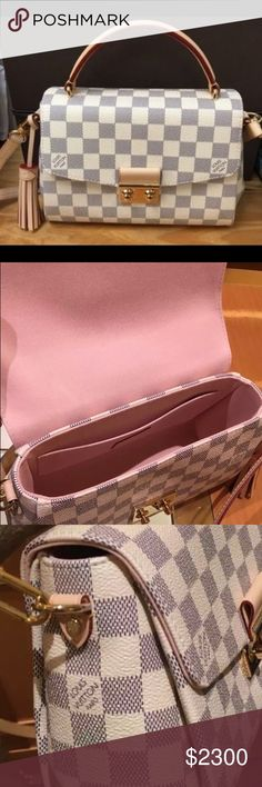 New Louis Vuitton Croisette Azur RB New Croisette with rose ballerine interior.  Louis Vuitton Bags Crossbody Bags