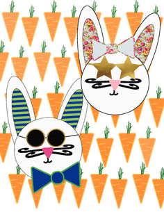 Hipster Bunny Rabbit