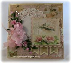 Shabby Chic Card by Cathy Mc - Cards and Paper Crafts at Splitcoaststampers