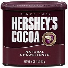 Hershey's Natural Unsweetened Cocoa, 16 oz - Walmart.com $6