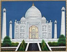 Mughal Miniature Paintings, Mughal Paintings, Indian Paintings, Paintings For Sale, Taj Mahal, Indian Traditional Paintings, Rajasthani Art, Mughal Architecture, Bright Pictures
