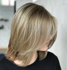 Dirty Blonde Bob with Flipped Fringe