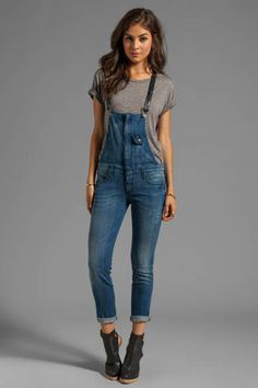 Button Denim Skinny Overalls - Large | We, The o'jays and Casual