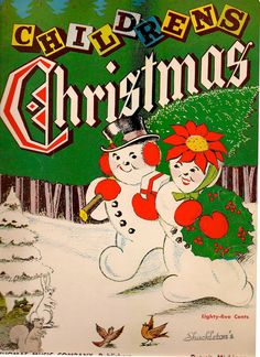 VINTAGE KIDS BOOK Children's Christmas Sheet Music by HazelCatkins, $10.00