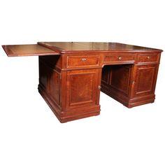 Table Desk, Table Furniture, French Desk, Partners Desk, Pedestal Desk, Old Desks, Antique Desk, Writing Table, Traditional Furniture