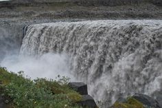 Dettifoss, Iceland | this plunge waterfall is not very high measuring at only 45 meters but ...