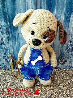 Cute Crochet, Beautiful Crochet, Crochet Dolls, Crochet Baby, Crochet Dog Patterns, Amigurumi Patterns, Crochet Ideas, Amigurumi Tutorial, Crochet Mignon