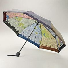Heading to London? This London-map umbrella will keep you dry and heading in the right direction.