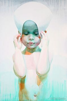 showercap watercolor painting-Ali Cavanaugh