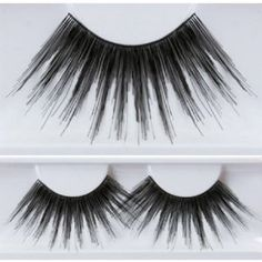Black Stargirl Eyelashes by Kryolan. $7.76. Long feather clown eyelashes. Black. Long feathery eyelashes