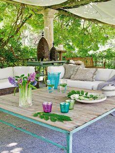 Casa decorada com jardim encantador
