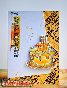 Blog hop card by Shirley using Vignette: It's Your Day and Sentiment Builders: Celebrate
