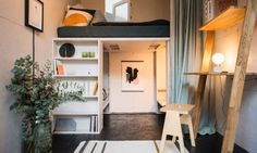 Photo 9 of 9 in A New Concept For Modular, Affordable Housing Is Coming to London's Vacant Buildings - Dwell Modern Tiny House, Tiny House Plans, Apartment Needs, Studio Apartment, Beds For Small Spaces, Temporary Housing, Compact Living, Tiny Living, Living Spaces