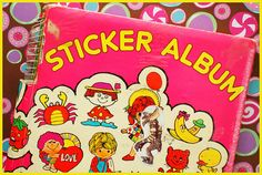 I had this very sticker album!! Oh how I coveted those stickers!  I'm still a sticker lover @ 34.
