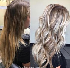 Avant-Apres : 2766 Likes 31 Comments Michigan Balayage Pink Blonde Hair, Blonde Hair With Highlights, Baylage Blonde, Fall Blonde Hair, Blonde Honey, Pink Highlights, Blonde Wig, Hair Color And Cut, Balayage Hair