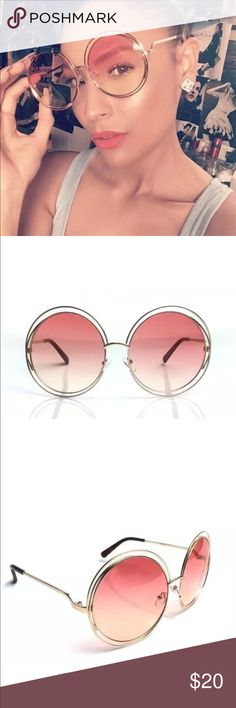 New✨ Gold Frame with Soft Pink Glass Sunglasses 😍 Oversized Gold Frame with Soft Pink Glass Sunglasses   ❣PRICE IS FIRM- No offers will be considered   ✨Perfect for all the upcoming Music Festivals 🎡   🔸Brand New✨ 🔸PRICE IS FIRM- already listed at lowest price  🔸If you want to save please look into bundling  🔸No Trades 🔸Will ship within 24 hours Monday-Friday  🚫Please -NO- Offers on items priced $10 and under AND ON SALE ITEMS‼️  🚫Serious Inquiries Only❣️  🔹Bundle one or more items…