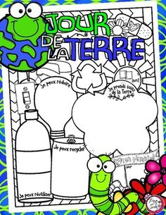 Jour de la Terre  French Poster Page for Earth Day!
