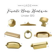 Favorite Brass Hardware Under $10 - House of Jade Interiors Blog