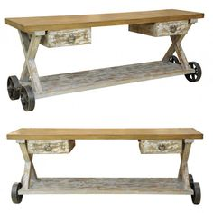 Console Table / Sofa Table / Desk on Wheels