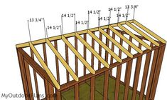This step by step diy project is about cheap shed plans. This compact shed is a relatively roomy storage shed and it is optimized for you to build it fast and on a budget. Pergola Ideas For Patio, Cheap Pergola, Pergola Garden, Garden Trellis, Garden Sheds, Pergola Plans, Backyard, 8x12 Shed Plans, Free Shed Plans